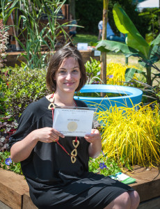 Georgina Chahed showing her RHS award