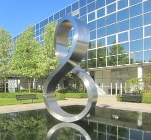 Milton Keynes' famous Octo sculpture
